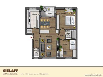 Günstig gekauft und gut gelandet!, 31789 Hameln / Hastenbeck, Erdgeschosswohnung